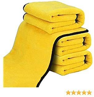 4Pack Extra Thick Microfiber Cleaning Cloths All-Purpose Absorbent Car Drying Wash Soft Reusable Detailing Polishing Towel Micro Fiber Towel Lint Free Streak Free (30 * 30) Cm