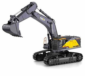 Huina 1592 Alloy 1/14 22ch Alloy Rc Excavator Trucks Excavator Remote Control Vehicle Models ToysRC VehiclesfromToys Hobbies and Roboton Banggood.com