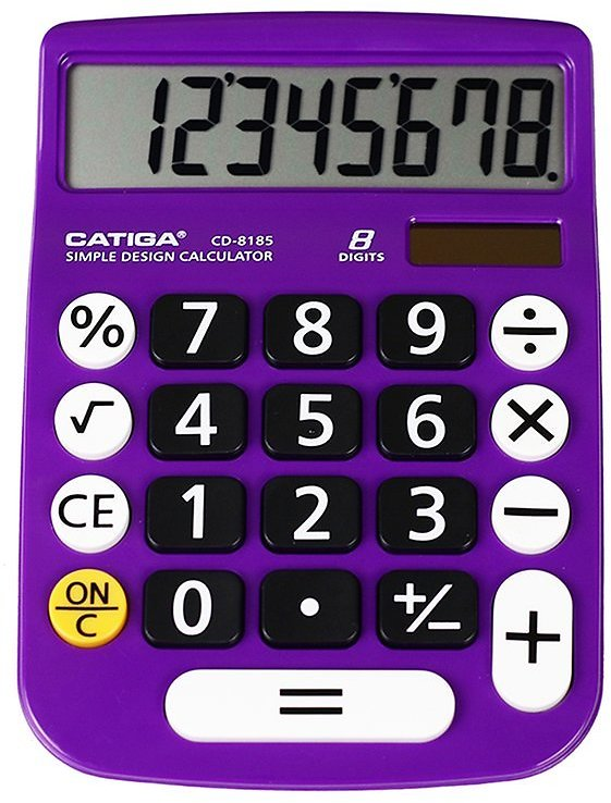 Purple 8-Digit Calculator