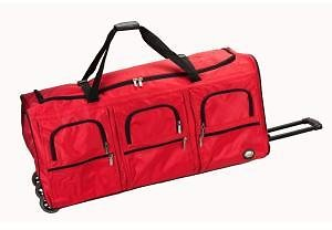Rockland Rockland Voyage 40 In. Rolling Duffle Bag, Red PRD340-RED