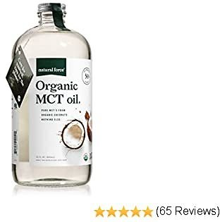 USDA Organic MCT Oil in 32 Oz Glass Bottle, Best for Keto Diet Recipes – Full Spectrum C8 C10 C12 Pure Coconut MCTs – Premium Quality & Non-GMO *Sustainable Packaging* By Natural Force, 32 Ounce