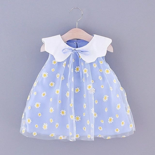 Newborn Baby Girls Clothes Summer Print Dress for Infant Baby Girls Clothing 1 Year Birthday Princess Party TUTU Dresses Dress