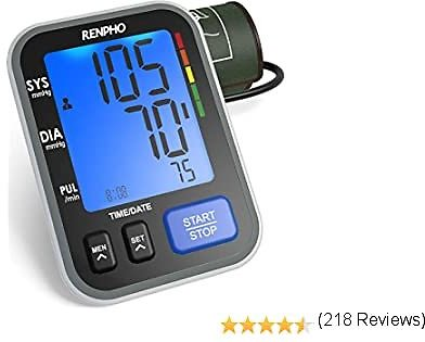 RENPHO Blood Pressure Monitor, Accurate Automatic Upper Arm BP Machine with Large Cuff 8.7-16.5 Inch, Voice Broadcast, Digital Large Display, 2-Users, 240 Recordings, 4 X AAA Included, FDA Approved
