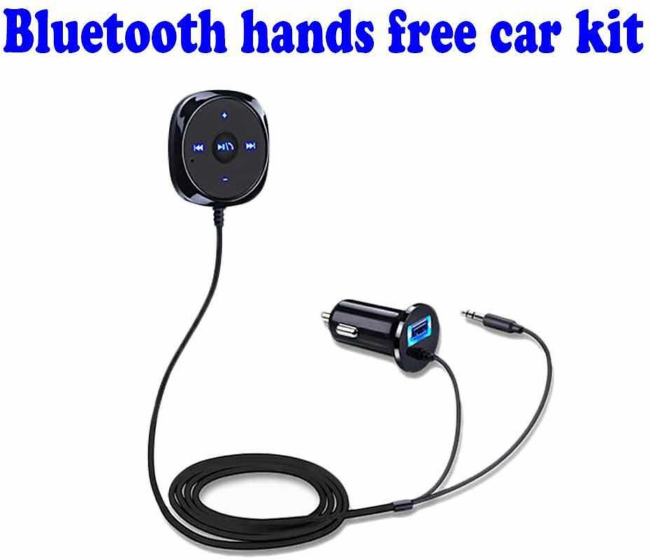 Digital LED Display Wireless Bluetooth Handsfree Car Kit Mp3 Player USB Charge Adapter for All Types of Vehicles with 3M Sticker & Extension Line