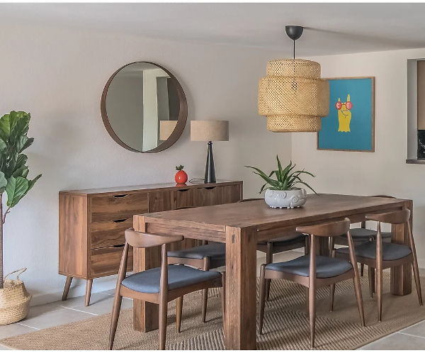 Bethley Solid Wood Dining Table