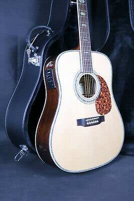 Top Quality 45 Electric Acoustic Guitar Solid Spruce Bone Nut D Style Fishman101 708257395718