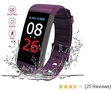 Read Fitness Tracker Activity Tracker Watch with Heart Rate Sleep Monitor, IP67 Waterproof Bluetooth with Step Calorie Counter Pedometer for Women Men and Gift