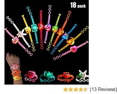Mikulala Party Favors for Kids Friendship Bracelets Toys Treasure Box Prizes for Classroom 18 Pack Goodie Bag Stuffers Glow in The Dark Party Supplies