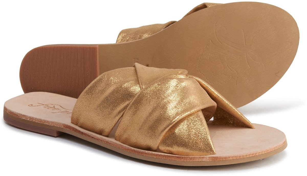 Free People Rio Vista Slide Sandals - Leather (For Women)