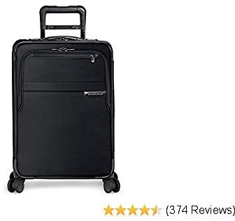 Briggs & Riley Baseline - Softside CX Expandable Carry-On Spinner Luggage, Black, 22-Inch
