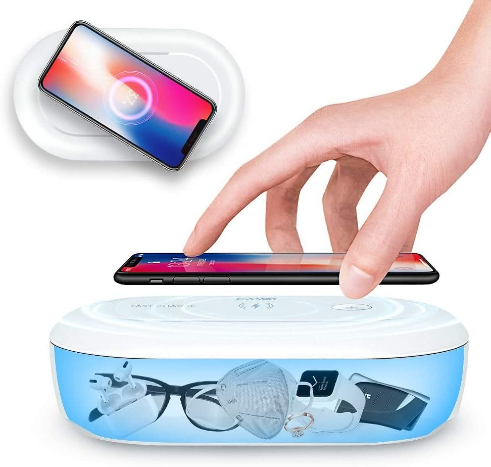Multi-Function Portable UV Sanitizer with Aroma Diffuser for Cell Phone, Jewelry, Watches, Glasses
