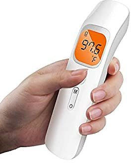 50% OFF! Forehead Thermometer, Non-Contact Infrared Digital LCD Display, Fever Alarm, Memory Function, Infants - Adult, Office..
