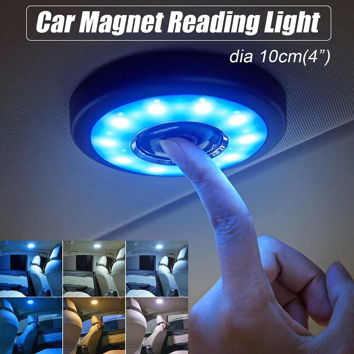 US $6.99 30% OFF|LED Car Interior Reading Light Auto USB Charging Roof Magnet Auto Day Light Trunk Drl Square Dome Vehicle Indoor Ceiling Lamp|Ornaments| - AliExpress