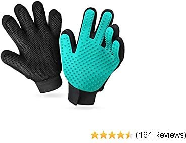 YWD Pet Grooming Glove Hair Remover Brush Hair Removal Gloves-Efficient Pet Hair Removal Set-Easily Groom Long Hair and Short Hair of Cats and Dogs-1 Pair