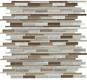 MSI Madison Avenue Interlocking 12 In. X 12 In. X 8mm Textured Glass Metal Mosaic Wall Tile (1 Sq. Ft.)-GLSMTIL-MA8MM