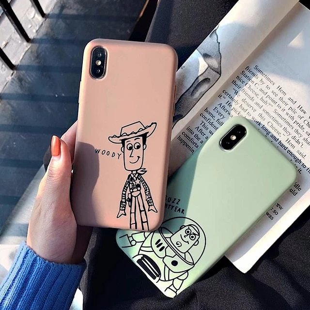 Mickey Pink Panther Cartoon Cute Cover Case For Iphone 6 7 8 X XS Plus Silicone Matte Soft Shell Case Phone Case for Iphone 6