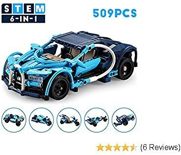 509pcs 6 in 1 Model Cars Kits to Build for Kids Adults, for Just $14.99 When You Use Code WELCOME123 (extra 30% Off+20%coupon)