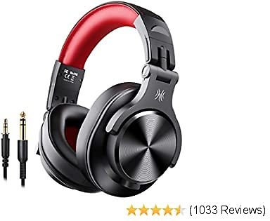 OneOdio Bluetooth Over Ear Headphones, Studio Headphones with Shareport, Foldable, Wired and Wireless Professional Monitor Recording Headphones with Stereo Sound for Electric Drum Piano Guitar Amp