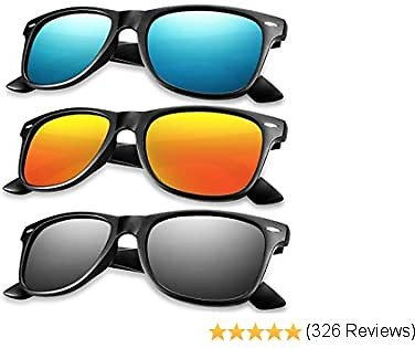 50% OFF 3 PACK Polarized Sunglasses for MenWomen, HD Vision Lens with Advanced Composite Coating UV Protection Retro Sun Glasses