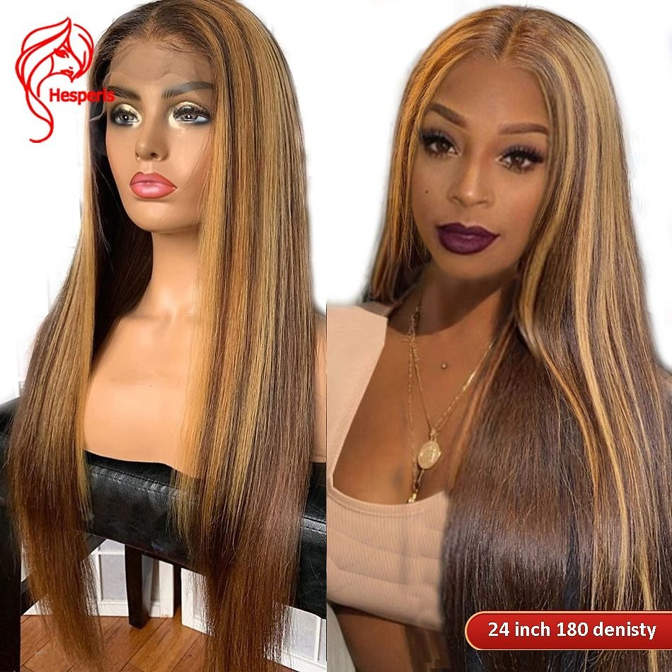Hesperis 360 Lace Frontal Wigs Pre Plucked13x6 Highlight Lace Front Human Hair Wigs Brazilian Remy Colored Blonde Lace Front Wig