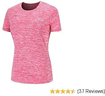 Women's Dry-Fit Moisture Wicking Active Athletic Performance Crew T-Shirt