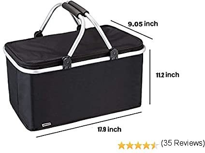 Picnic Basket-Outdoor-Folding -Waterproof -Insulated