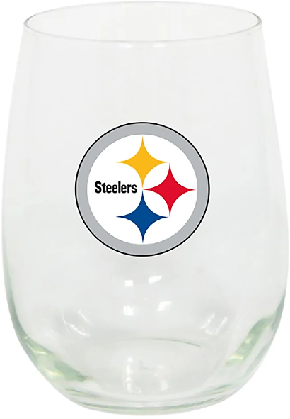 Pittsburgh Steelers Stemless Wine Glass