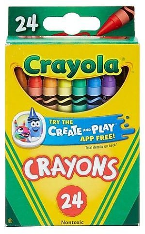 Crayola Crayons, 24/Box (In Store)