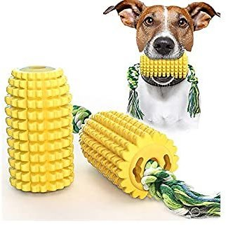 USWT Corn Shaped Dog Chew Toy, Bite-Resistant Tough Chew Rope Toys for Boredom Teeth Cleaning Dental Care