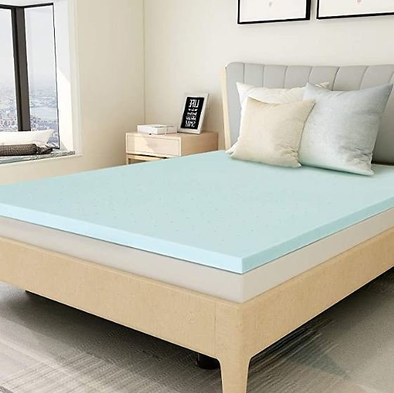 Mattress Topper California King, 1.5 Inch Gel Infused Memory Foam Cover Pad for Bed Mattress