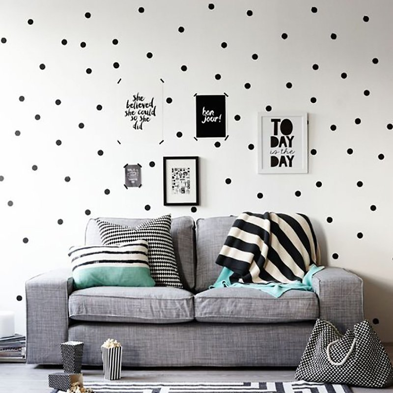 US $2.36 60% OFF|Black Dots Wall Stickers For Kids Room Baby Nursery Stickers Home Decor Kids Wall Sticker Baby Room Children Home Decoration|Wall Stickers| - AliExpress