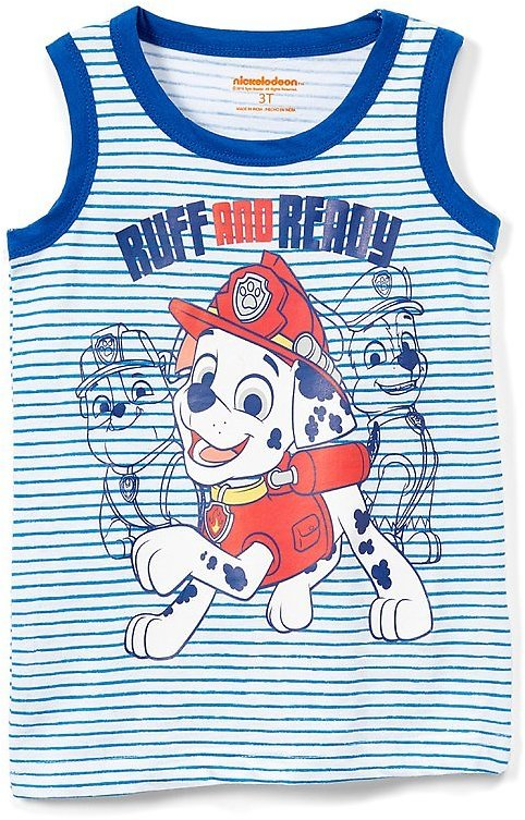 PAW Patrol Blue Stripe 'Ruff and Ready' Muscle Tank - Toddler