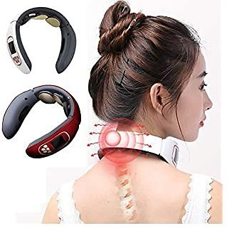 Dongdongole Electric Neck Massager Portable Travel Neck Body Pulse Deep Massage Tool Electric Massagers