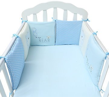 6PC A Set Baby Bed Bumpers Cotton Plush Safety Infant Toddler Nursery Beding ProtectionBaby & Kids CarefromMother & Kidson Banggood.com