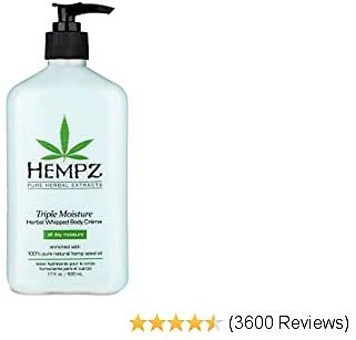 68% OFF Hempz Natural Triple Moisture Herbal Whipped Body Cream with 100% Pure Hemp Seed Oil for 24-Hour Hydration
