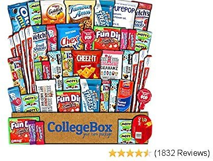 CollegeBox Care Package (45 Count) Snacks Food Cookies Granola Bar Chip Candy Ultimate Variety Gift Box Pack Assortment Basket Bundle Mix Bulk Sampler Treat College Students Final Exam Office Summer