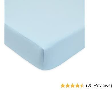 American Baby Company Ultra Soft Velvety Fitted Crib Sheet, Blue, for Boys and Girls
