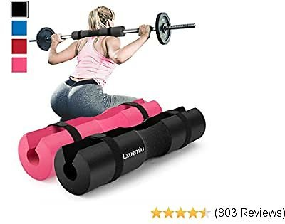 【2020 Upgraded】 Squat Pad Barbell Pad for Squats, Lunges, and Hip Thrusts - Foam Sponge Pad - Provides Relief to Neck and Shoulders While Training