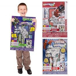 43pc Themed Activity Kit By Colorups – Art Crafts & Tattoos!