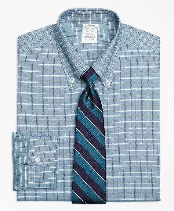 Original Polo® Button-Down Oxford Regent Fitted Dress Shirt, Twin Check - Brooks Brothers