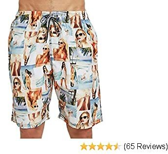 AINIKO Mens Swim Trunks Quick Dry Board Short Pants with Pockets and Mesh Lining Beach Swimwear Bathing Suits