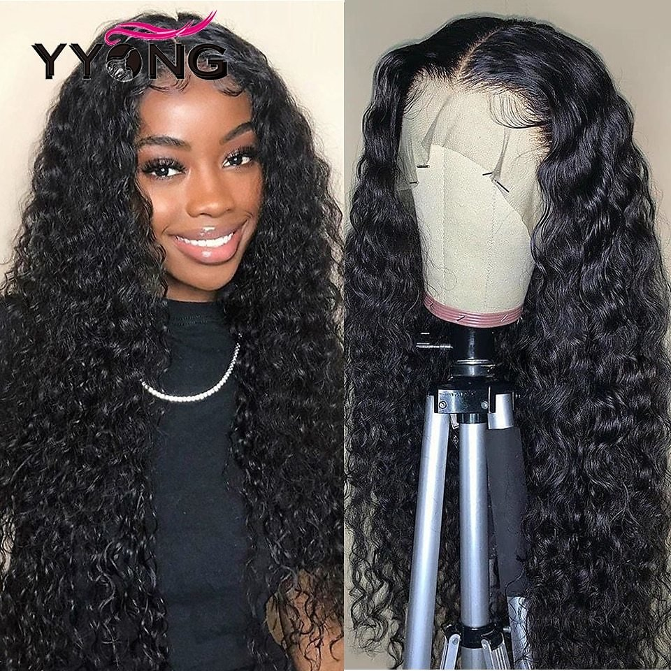 4x4 Lace Closure Wigs & 13x6 Lace Frontal Wig Malaysian Water Wave Human Hair Remy Lace Front Wigs Pre-Plucked 150 Density