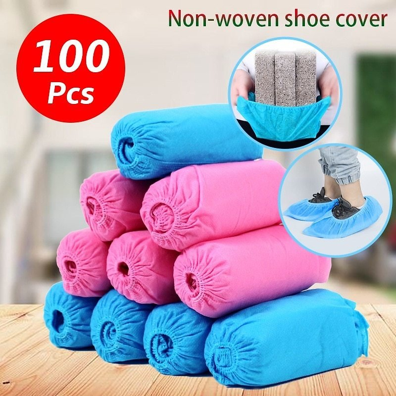 US $12.5 43% OFF|100Pcs Disposable Thick Non Woven Anti Slip Safety Shoe Cover Homes Floor Carpet Clean Work Breathable Protect Shoes Boot Covers|Safety Shoe Boots| - AliExpress