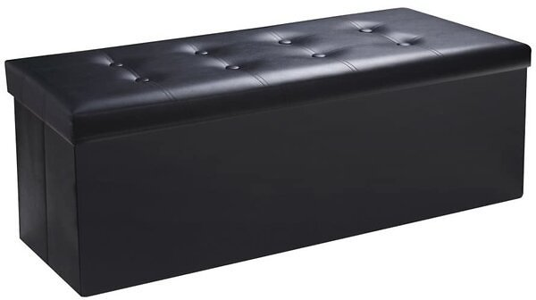 Falan 43'' Tufted Rectangle Cube with Storage Ottoman