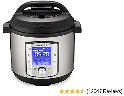 Instant Pot 6QT Duo Evo Plus Electric Pressure Cooker, 6-QT, Stainless Steel/Black