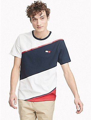 Essential Diagonal Stripe T-Shirt | Tommy Hilfiger