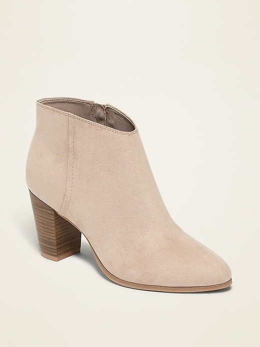 Faux-Suede High-Heel Booties for Women | Old Navy
