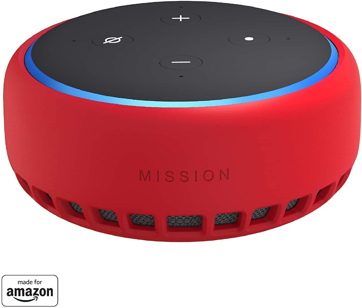 Made for Amazon Case for Echo Dot (3rd Gen) - Candy Red