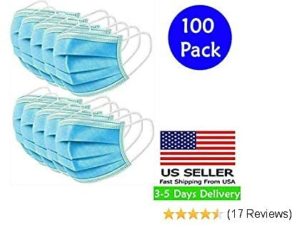 Disposable Face Mask for Outdoor 100Pcs