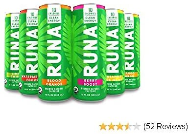 Organic Clean Energy Drink By RUNA, Sampler Pack | Refreshing Tea Taste | 10 Calories | Powerful Natural Caffeine | Healthy Energy & Focus | No Crash or Jitters | 12 Oz (Pack of 6)